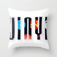 vinyl Throw Pillows featuring Vinyl by Danielhry