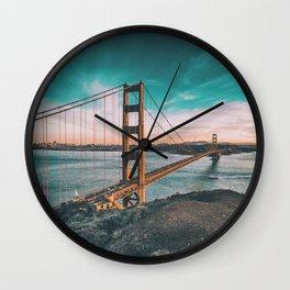 Golden gate bridge 4 Wall Clock