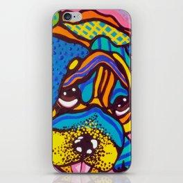 Bashful Dog Puppy Design Kids Fun Colorful Pug Bulldog Boxer iPhone Skin