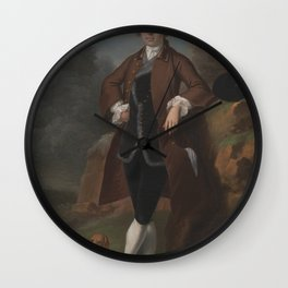 Arthur Devis - William Farington of Shawe Hall, Lancashire (1743) Wall Clock
