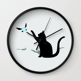Cat and Navi Wall Clock