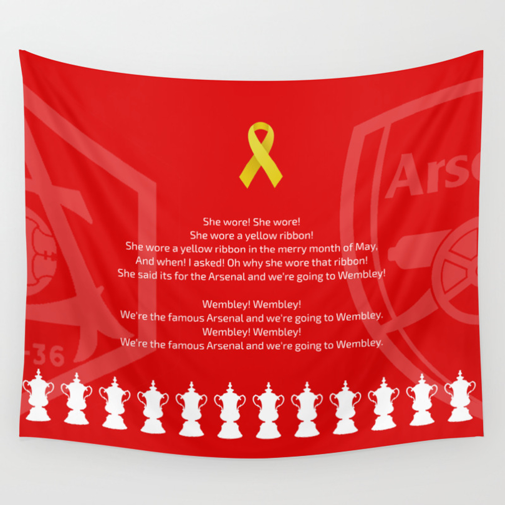 She Wore A Yellow Ribbon Wall Tapestry by Tomcronin TPS3747718