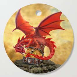 Red Dragon's Treasure Chest Cutting Board