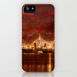 Boston Charles River Bridges iPhone Case