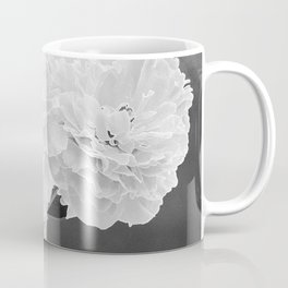 Peony Drama ~ B&W Accented Edges Coffee Mug