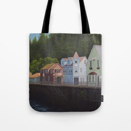 Ketchikan's Creek Street Tote Bag