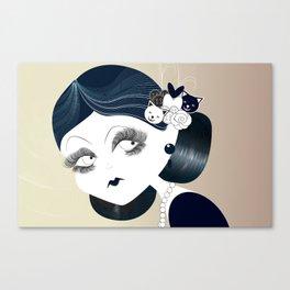 Savanah Black Canvas Print