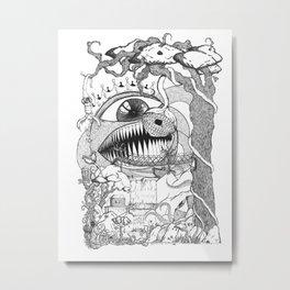 Monster's Garden! Metal Print