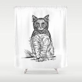 BAT CAT Shower Curtain
