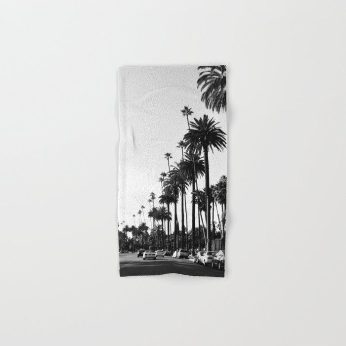Los Angeles Black and White Hand & Bath Towel