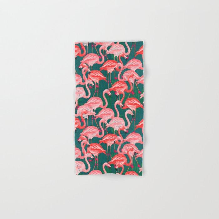 flamingo tropical Hand & Bath Towel