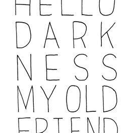 Metal Travel Mug - hello darkness - Matthew Taylor Wilson