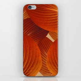 Leaves in Terracotta Color #decor #society6 #buyart iPhone Skin