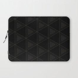 Modern Black Triangle Pattern Laptop Sleeve