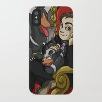 crowley iPhone & iPod Cases featuring Crowley and his Hellhounds  by SmercArt