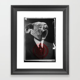 Koala Yawn Framed Art Print