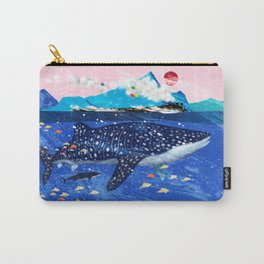 WHALE SHARK AND STEAM TRAIN Carry-All Pouch