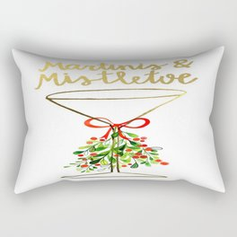 Mistletoes and Martinis Rectangular Pillow