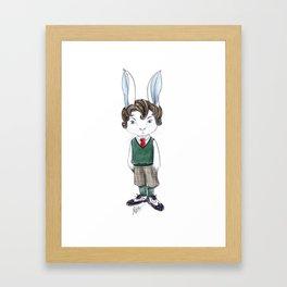 Mr Rabbit Framed Art Print