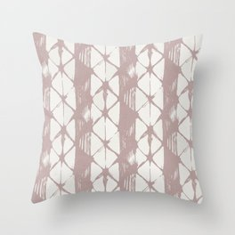 Simply Braided Chevron Clay Pink on Lunar Gray Throw Pillow