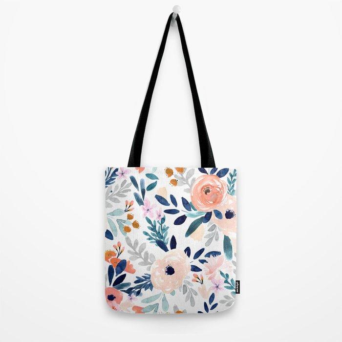 Jolene Floral Tote Bag
