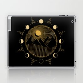 Lunar Phases With Mountains Laptop & iPad Skin
