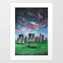 The Druids Turn To Stone Art Print