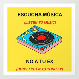 Listen Music Art Print