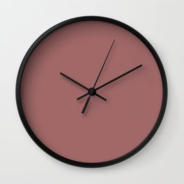 Blush Gold Coppery Pink Solid Color Wall Clock