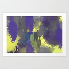 blues and yellows Art Print