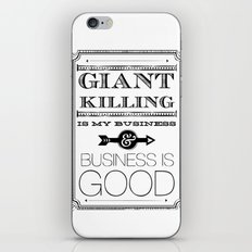 Giant Killing is My Business... iPhone & iPod Skin