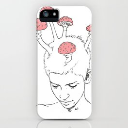Mushroom Thoughts iPhone Case