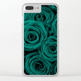 emerald green roses Clear iPhone Case