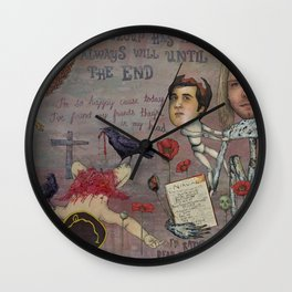 Nirvana - Light My Candles In A Daze Cause My Heart Shaped Box Is Broke Wall Clock