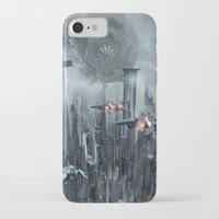sci fi iPhone & iPod Cases featuring Sci-Fi City by Michael Lenehan