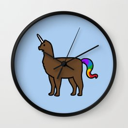 Alpacacorn Wall Clock