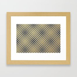 Hypnotic dots Framed Art Print