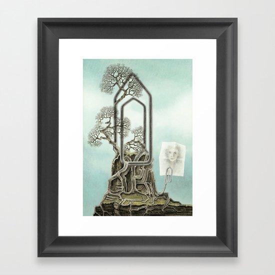 Music score Framed Art Print