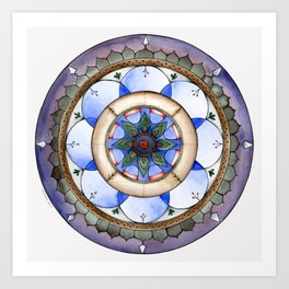 Winter Mandala Art Print
