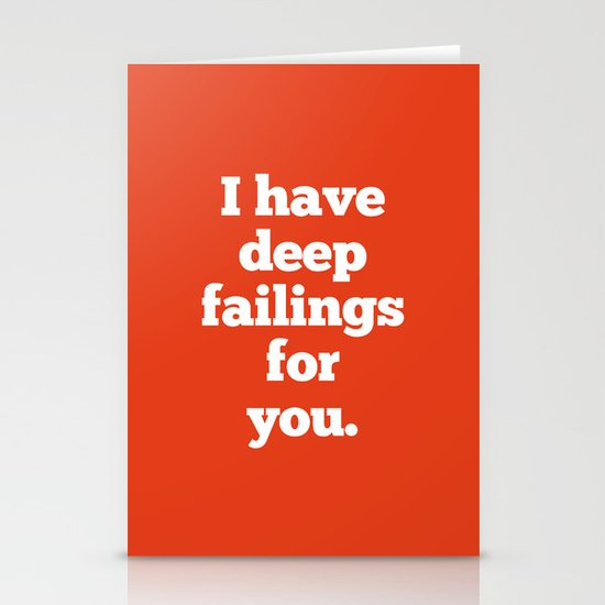 Deep Failings For You Stationery Cards