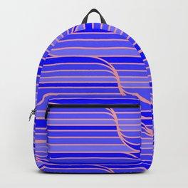 Geo Stripes - Cobalt Blue Backpack