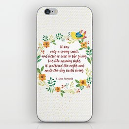 F.S. Fitzgerald  iPhone Skin