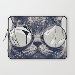 cat with glasses Laptop Sleeve