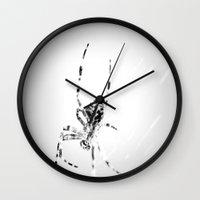 spider Wall Clocks featuring Spider by Fine2art