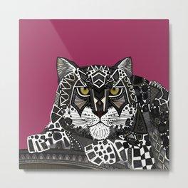 snow leopard pink Metal Print