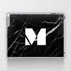 Black Marble - Alphabet M Laptop & iPad Skin
