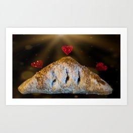 Love of a turnover Art Print