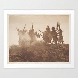 Dancing to Restore an Eclipsed Moon - Qagychl Art Print