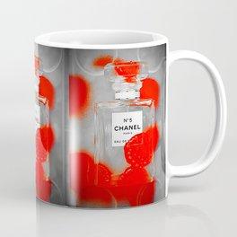 No 5 Red Splash Coffee Mug