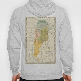 Vintage Map of Argentina (1918) Hoody